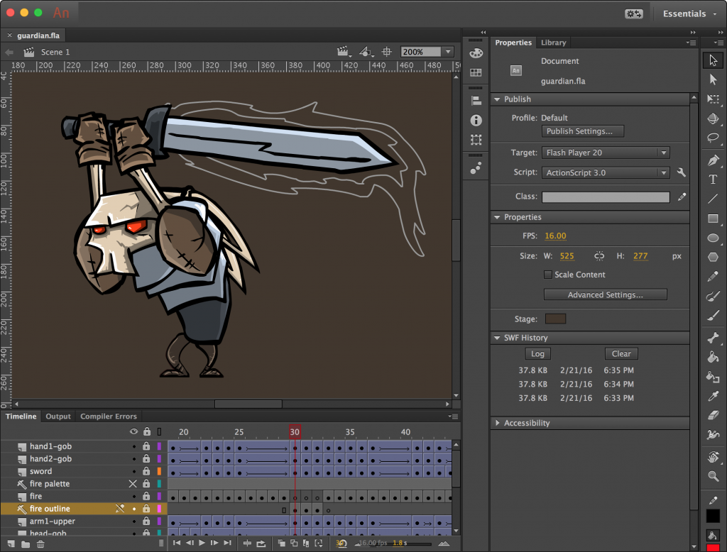 Adobe Animate CC 2020 20.0.2 for Mac Free Download [Latest]