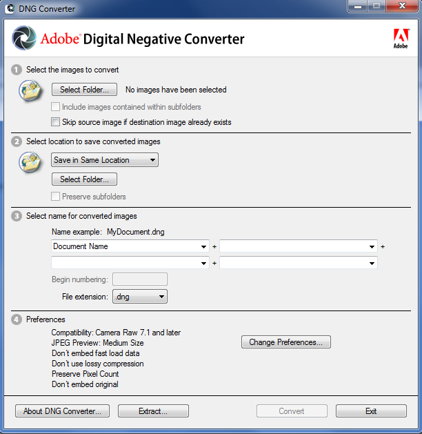 Adobe DNG Converter for Mac 9.12.1 Download