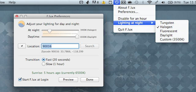 Download f.lux for MAC 4.55 Free ..