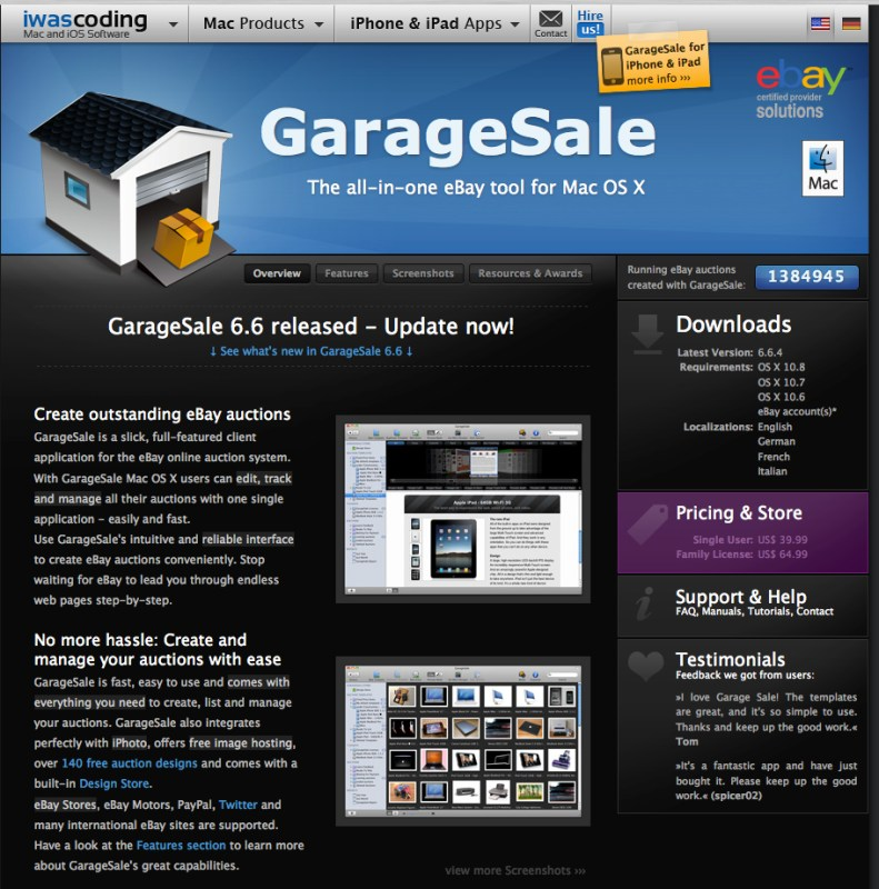 GarageSale 7.0.12 Mac Download Free