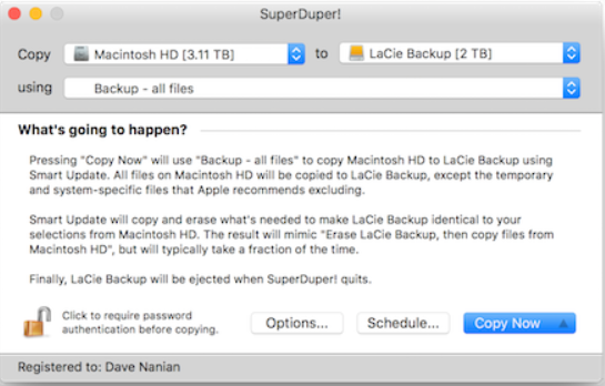 SuperDuper 3.1.4 Mac App Free Download