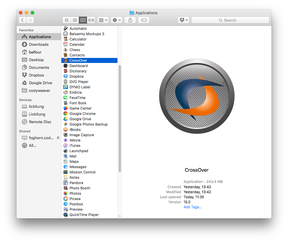 CrossOver 18.0 Mac Cracked Version Free Download