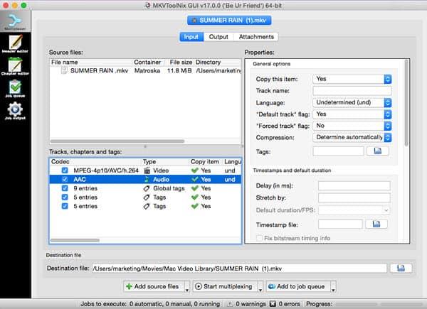 MKVtoolnix 30.1.0 Crack Mac Serial Key Latest Version + Windows Free